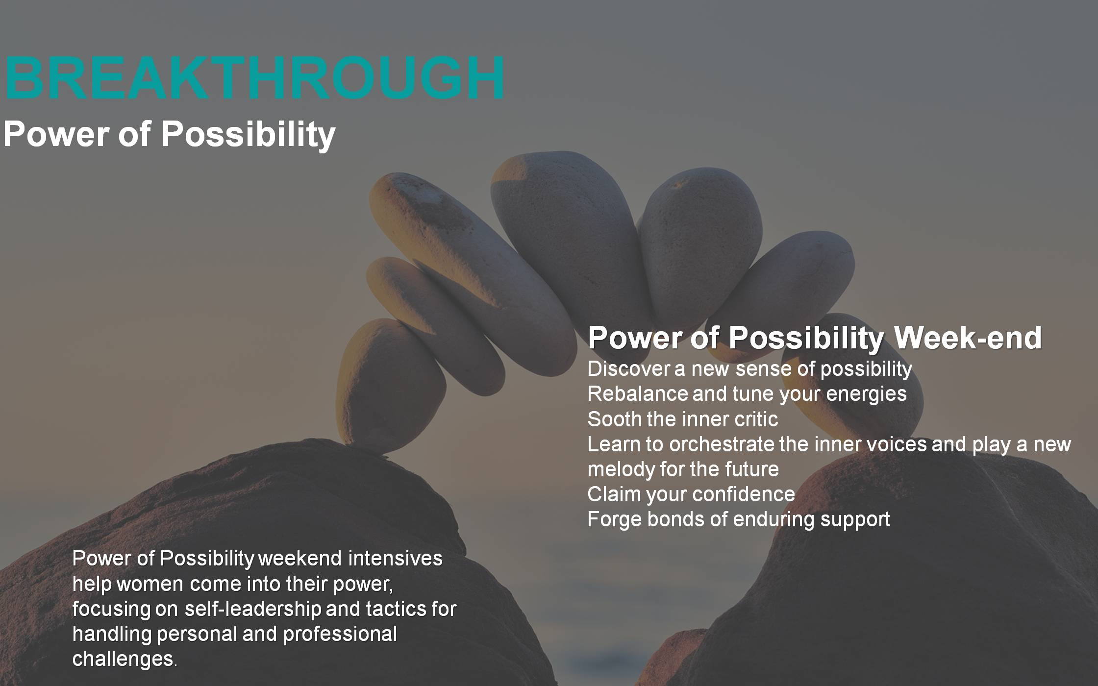 Breakthrough power of possiblity